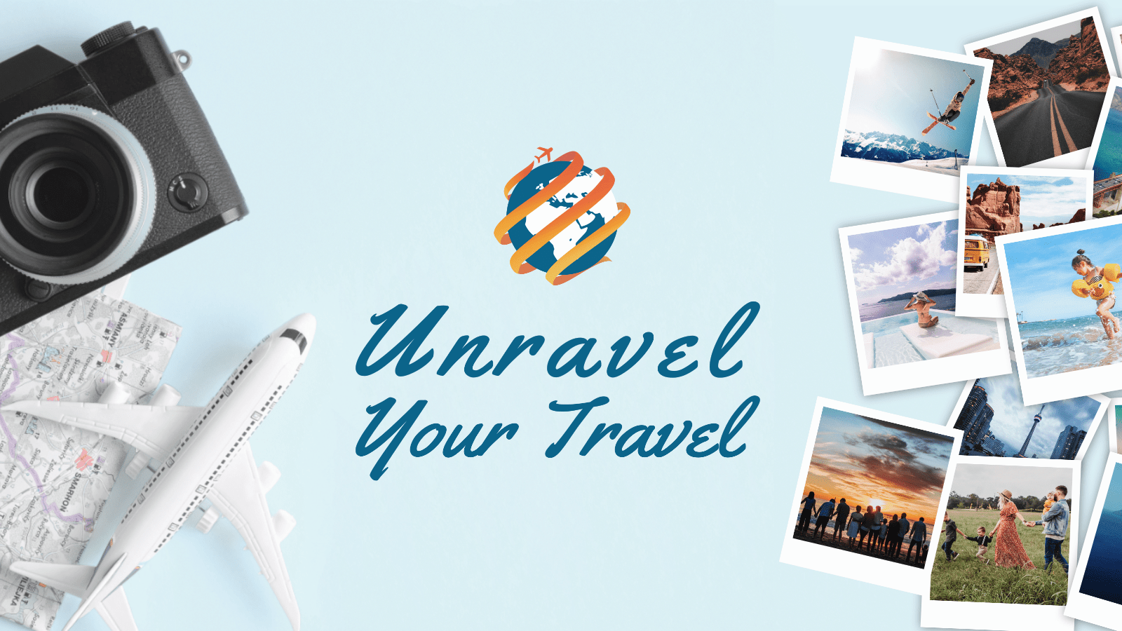 facebook banner with travel logo